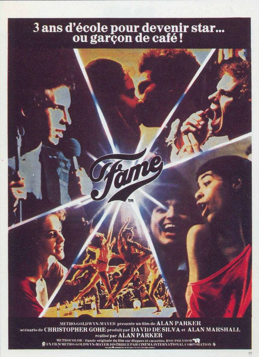 Musical - Fame (1980) - film poster 80s