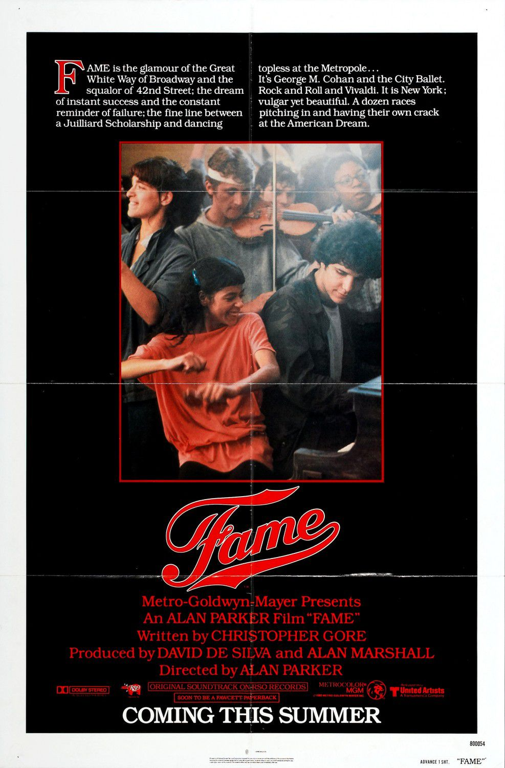 Musical - Fame (1980) - film poster 80s - Alan Parker movie