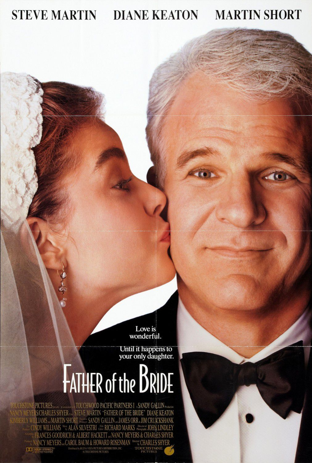 Father of the Bride - il Padre della Sposa - 1991 - Steve Martin - Diane Keaton - Martin Short  - film comedy poster