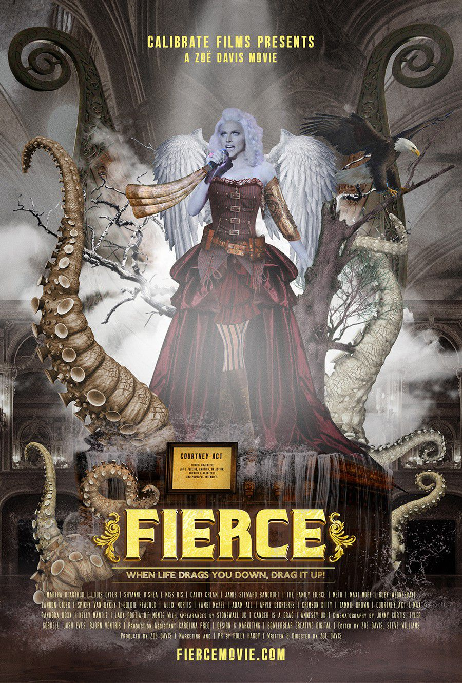 Fierce - Courtney Act - film poster