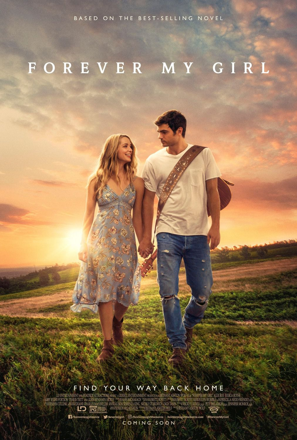 Forever my Girl - Alex Roe - Jessica Rothe - John Benjamin Hickey - Abby Ryder Fortson - film poster