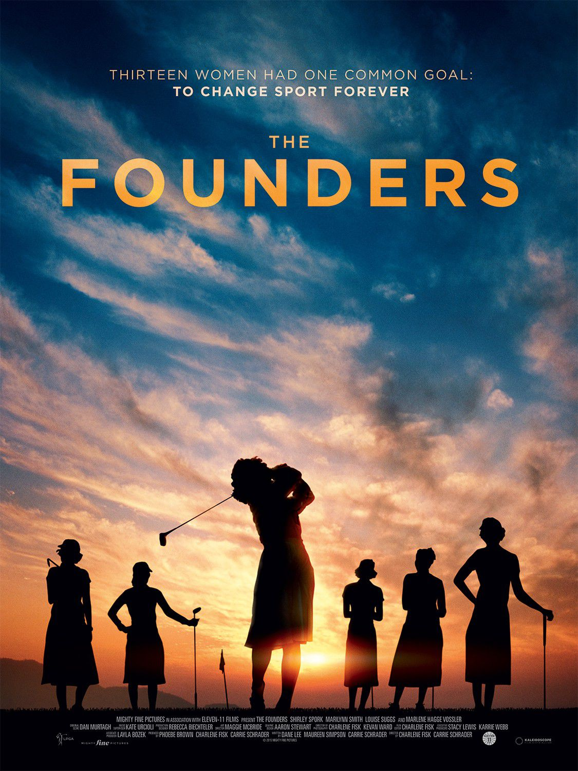 Founders - thirteen women had one common goal: change sport forever - Shirley Spork - Marilynn Smith - Louise Suggs - Marlene Hagge Vossler - film poster