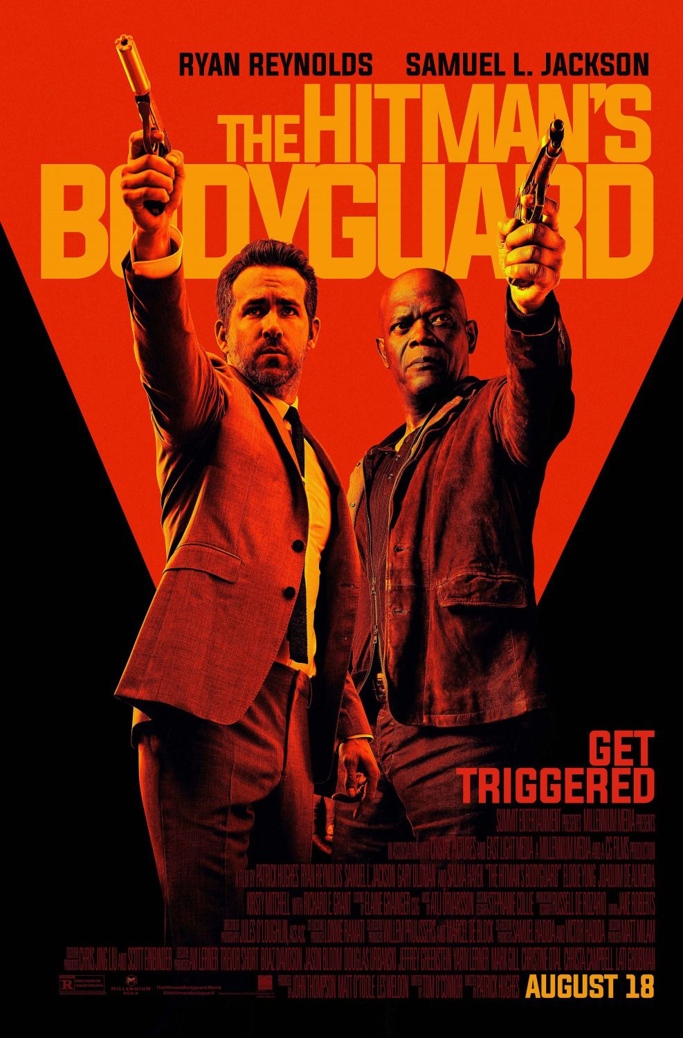 The Hitman's Bodyguard - live action film poster