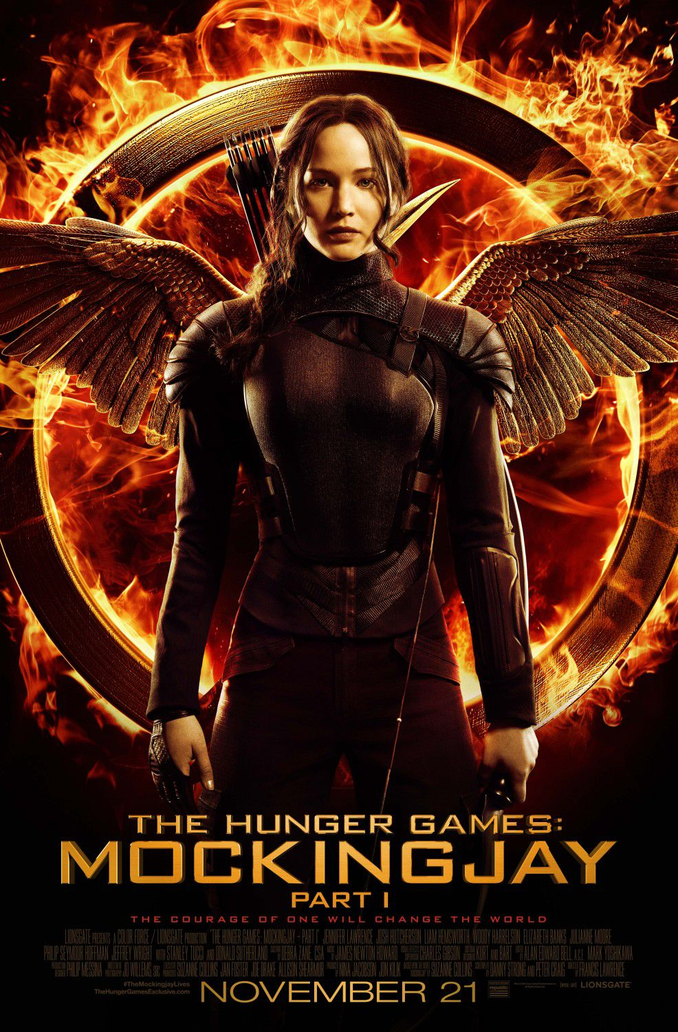 Hunger Games 3 - Mockingjay - part one  poster