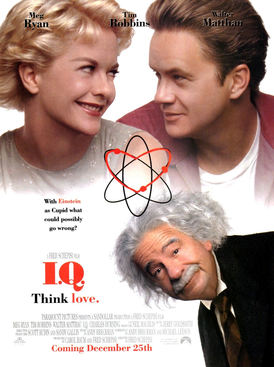 IQ ... think Love ... film with Meg Ryan - Tim Robbins - Walter Mattau ... with Einstein as Cupid what could possibly go wrong?