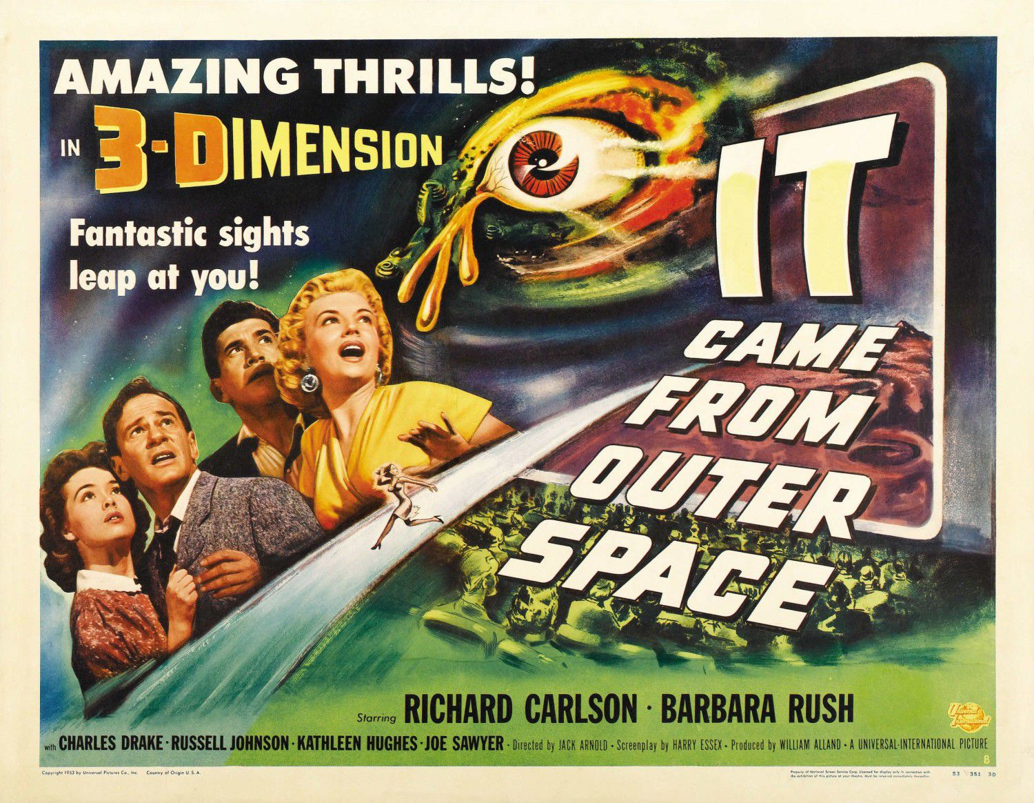 Old Film Science Fiction Poster - It came from outer Space