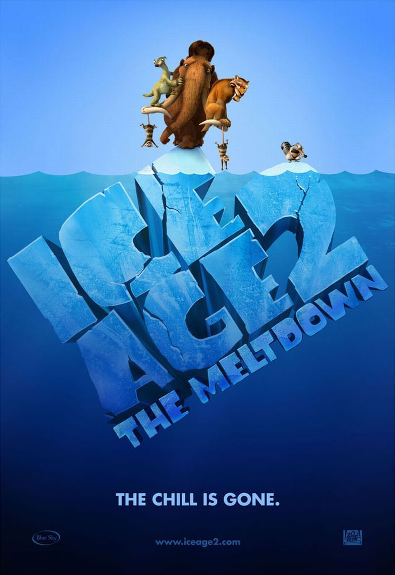 Ice Age 2 - Ice Age two - the Meltdown - il Disgelo - poster  iceberg