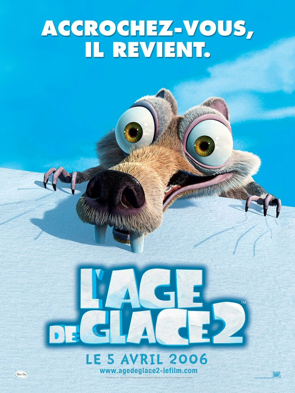 Ice Age 2 - Ice Age two - the Meltdown - il Disgelo - poster  Scrat