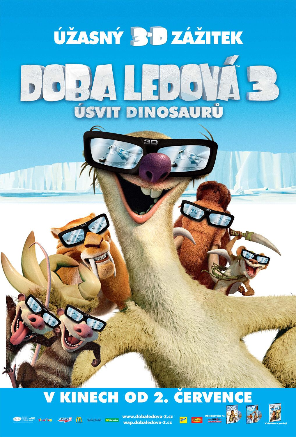 Ice Age 3 - Alba dei Dinosauri (Dawn of the Dinosaurs) - film poster  Sid