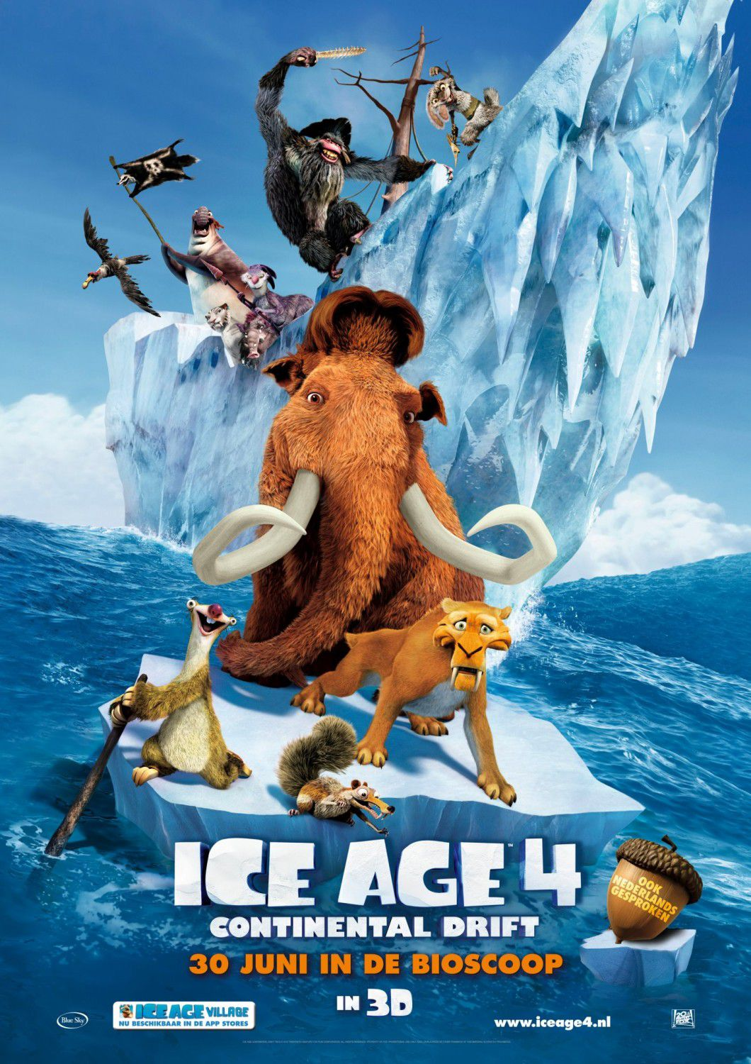Ice Age 4 - Continenti Deriva - Continental Drift - animated film poster