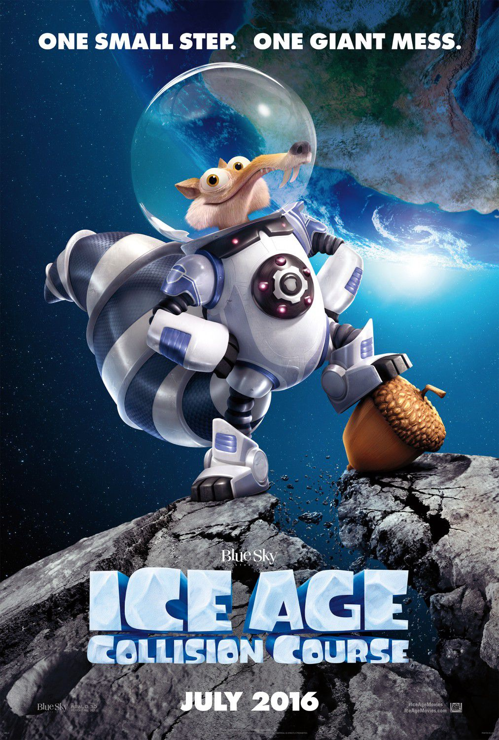 Ice Age 5 - Collision Course - Rotta di Collisione - Scrat in space