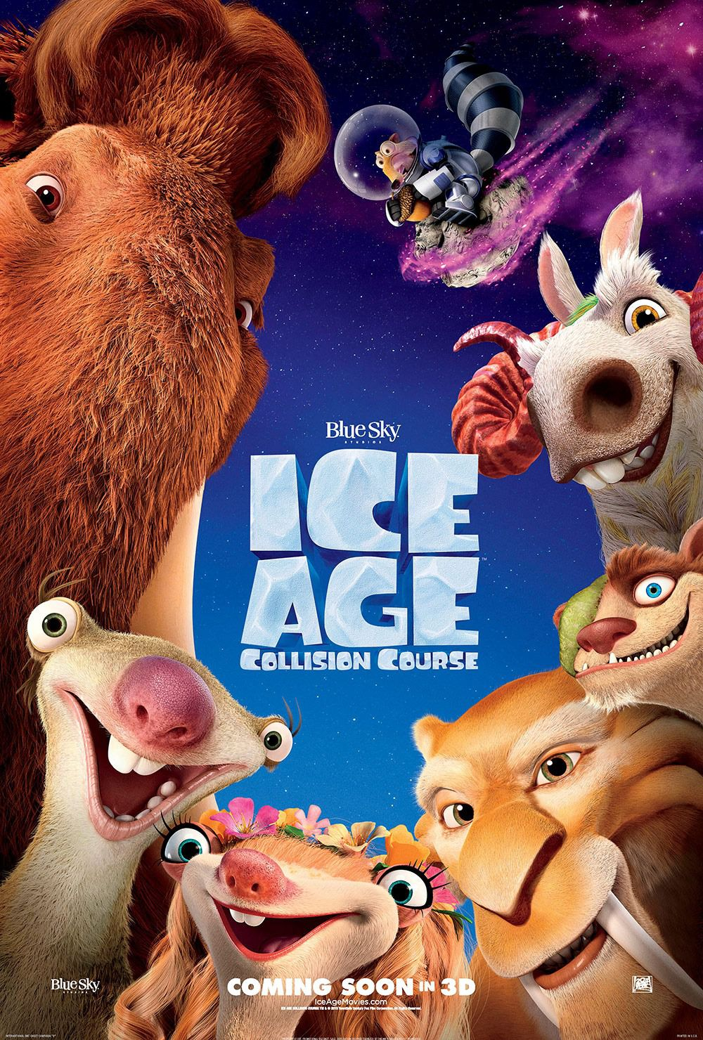 Ice Age 5 - Collision Course - Rotta di Collisione - animated film poster