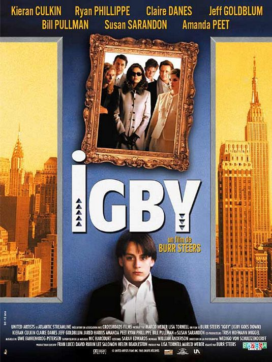 Igby goes down - Kieran Culkin - Jeff Goldblum - Claire Danes - Jared Harris - film poster