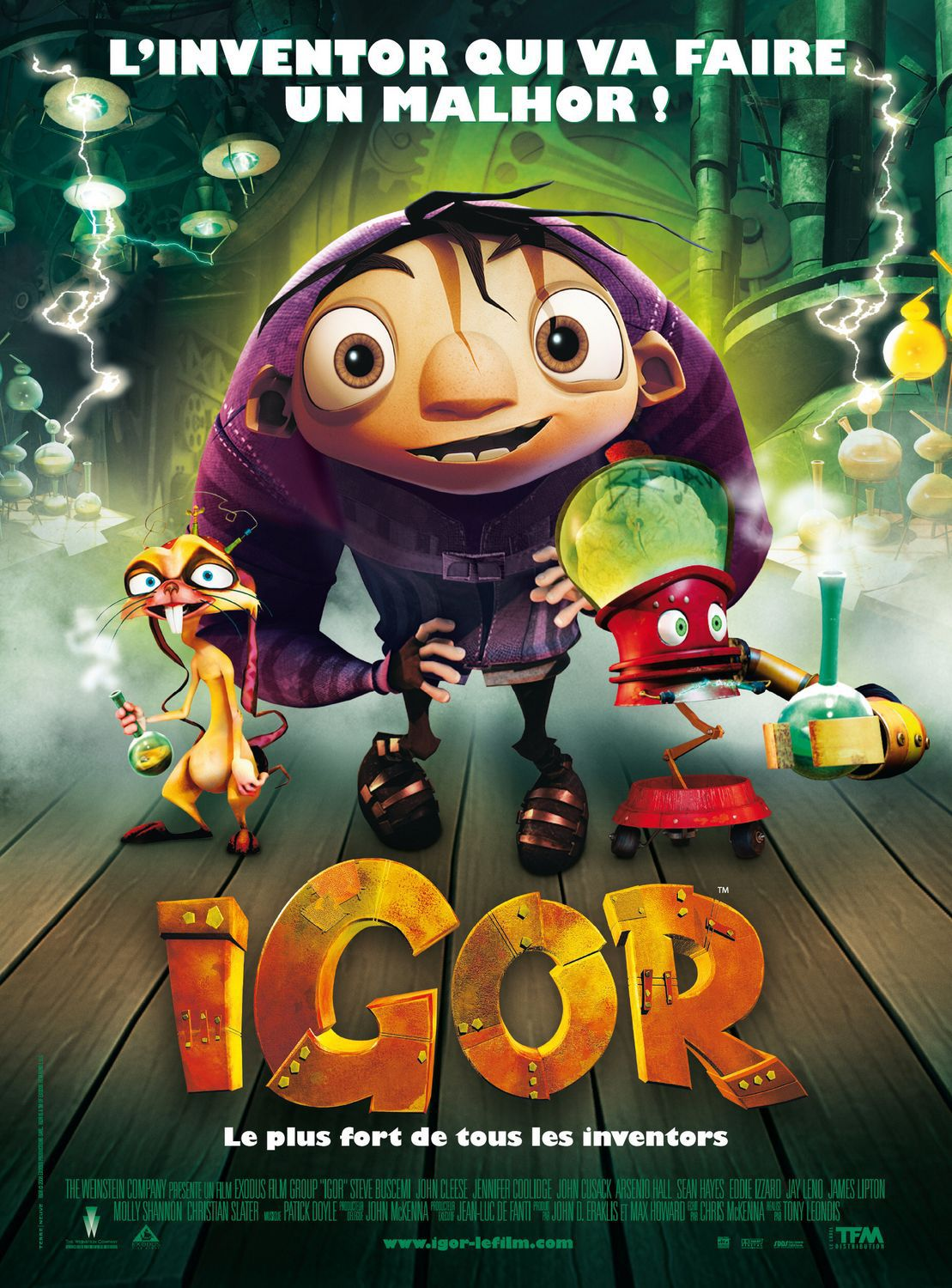 iGor ... animated film ... l'inventor qui va faire un malor! - poster