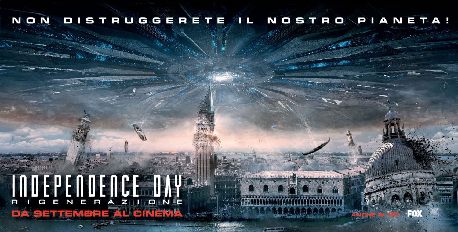 Independence Day Resurgence - film banner city invasion