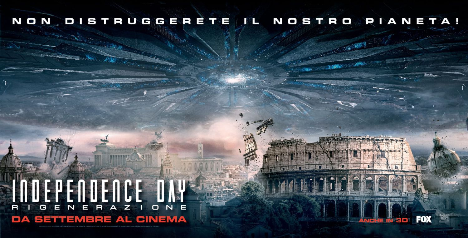 Independence Day Resurgence - film banner city invasion Rome Roma