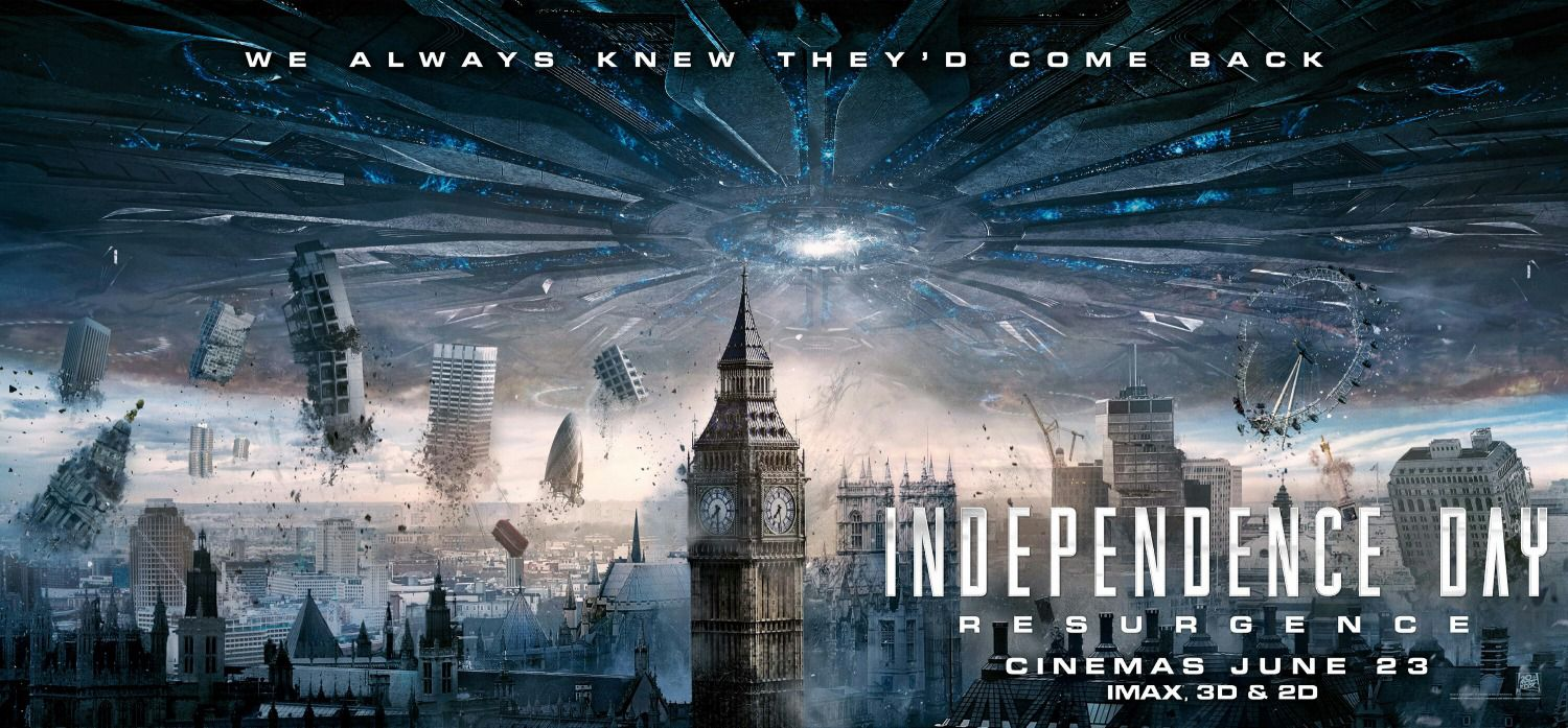 Independence Day Resurgence - film banner city invasion London Londra