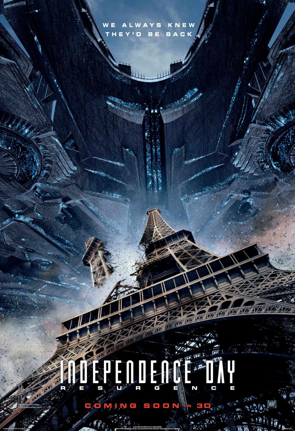Independence Day Resurgence - film poster Paris