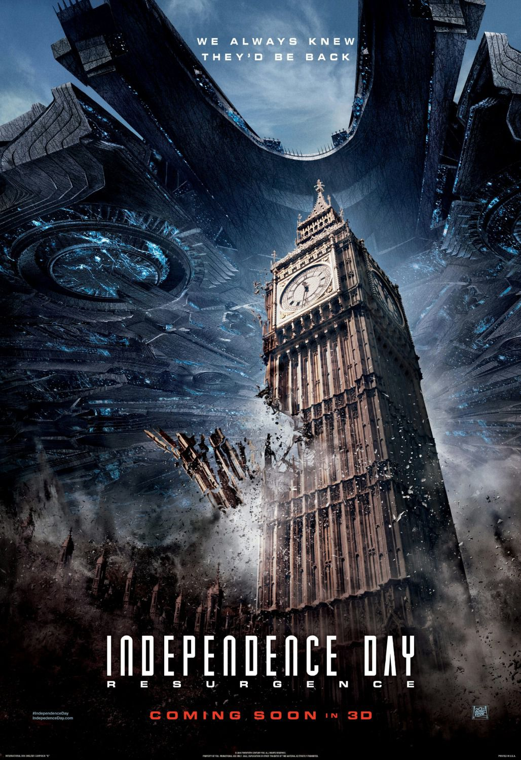 Independence Day Resurgence - film poster London