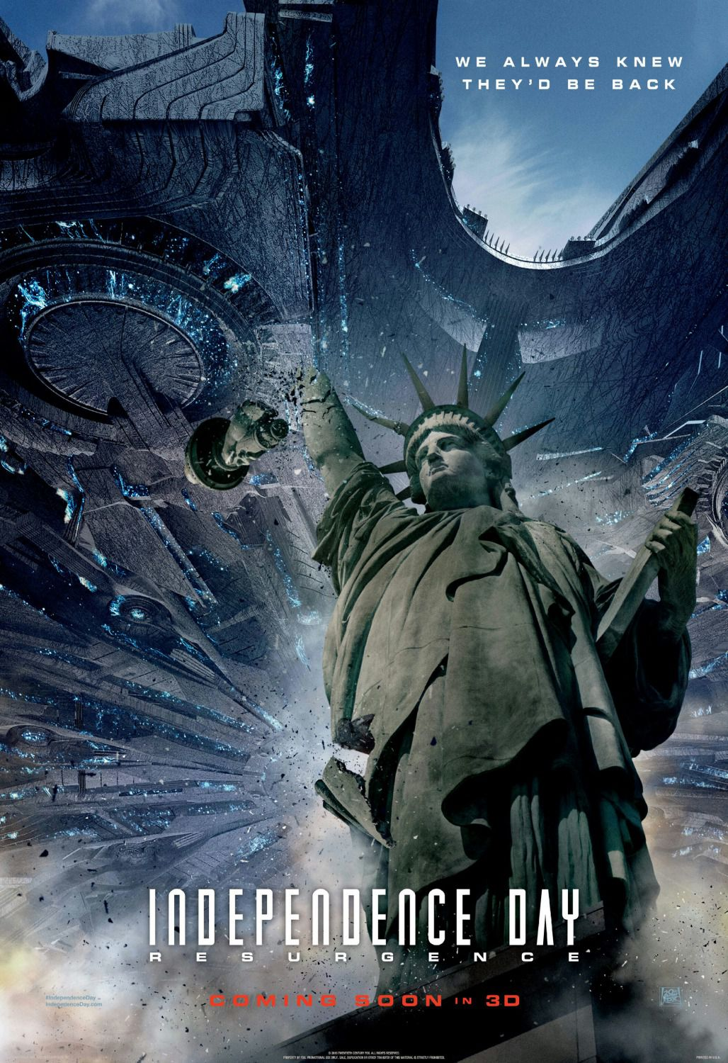 Independence Day Resurgence - film poster Paris NY Statua Libertà Libery