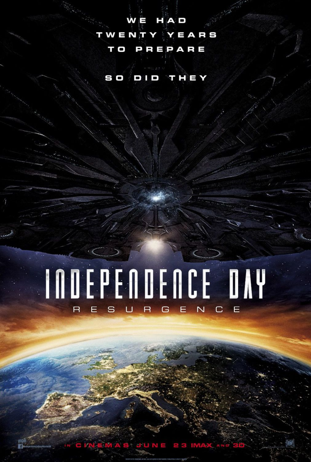 Independence Day Resurgence - film poster Europe Italy Spain
