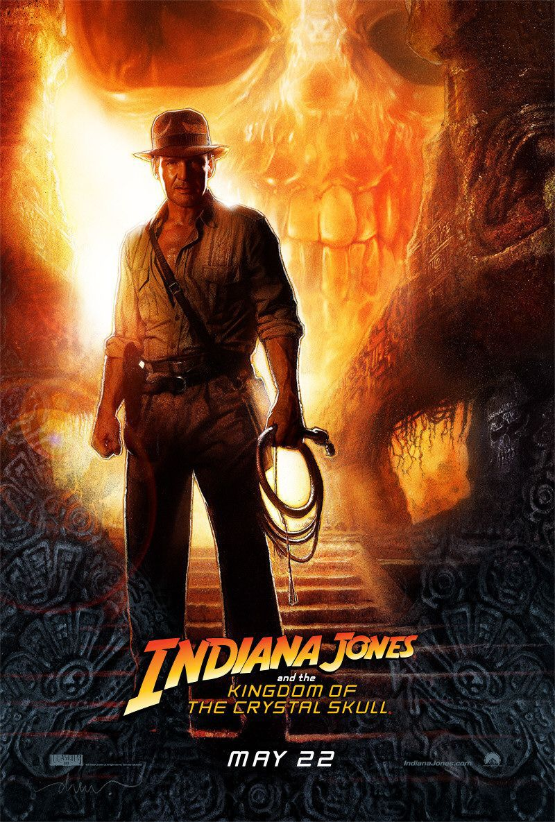 Indiana Jones 4 - Il Regno del Teschio di Cristallo - Kingdom of the Crystal Skull - poster
