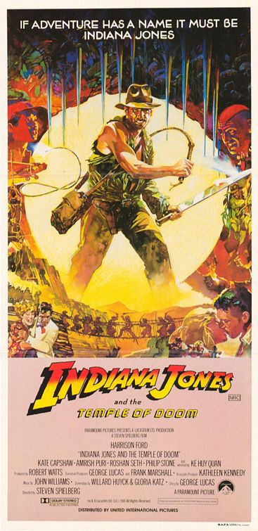 Indiana Jones 2 - Il Tempio Maledetto - Temple of Doom - poster