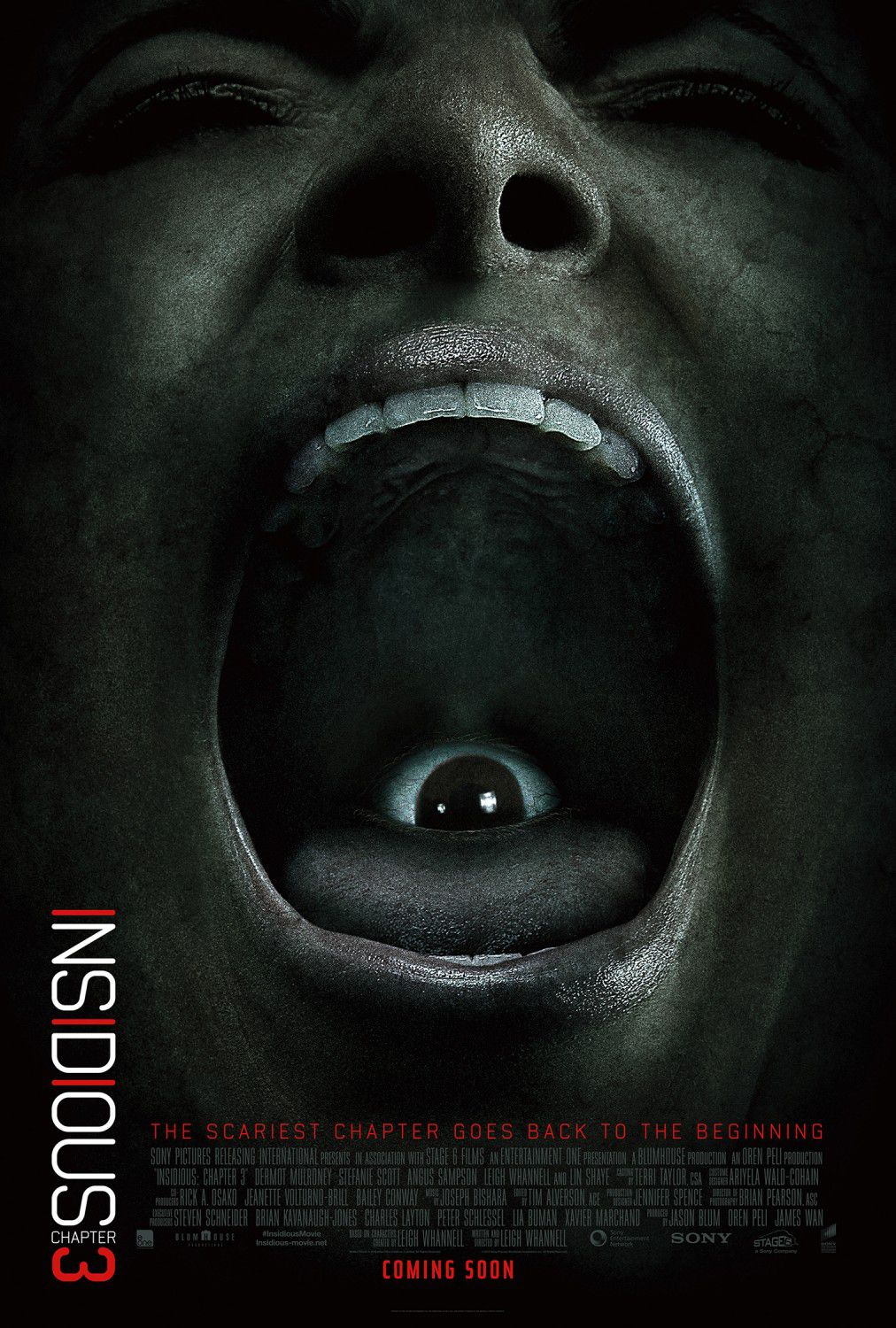Insidious chapter 3 - horror poster - eye - the scariest chapter goes back to the beginning