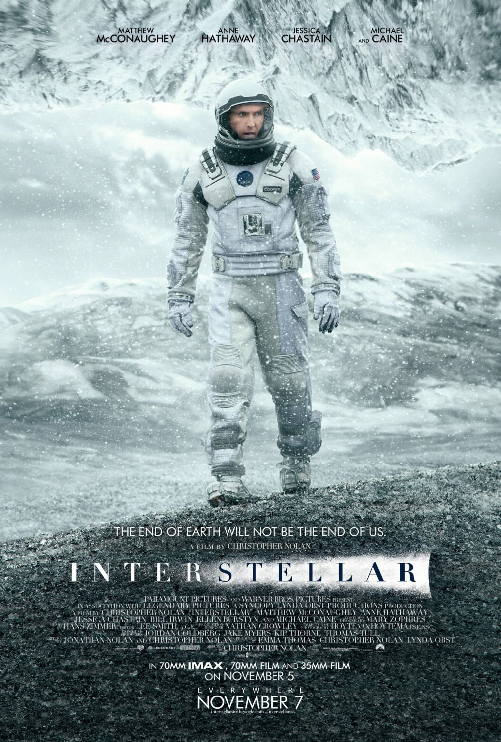 Interstellar - poster - Matthew Mcconaughey