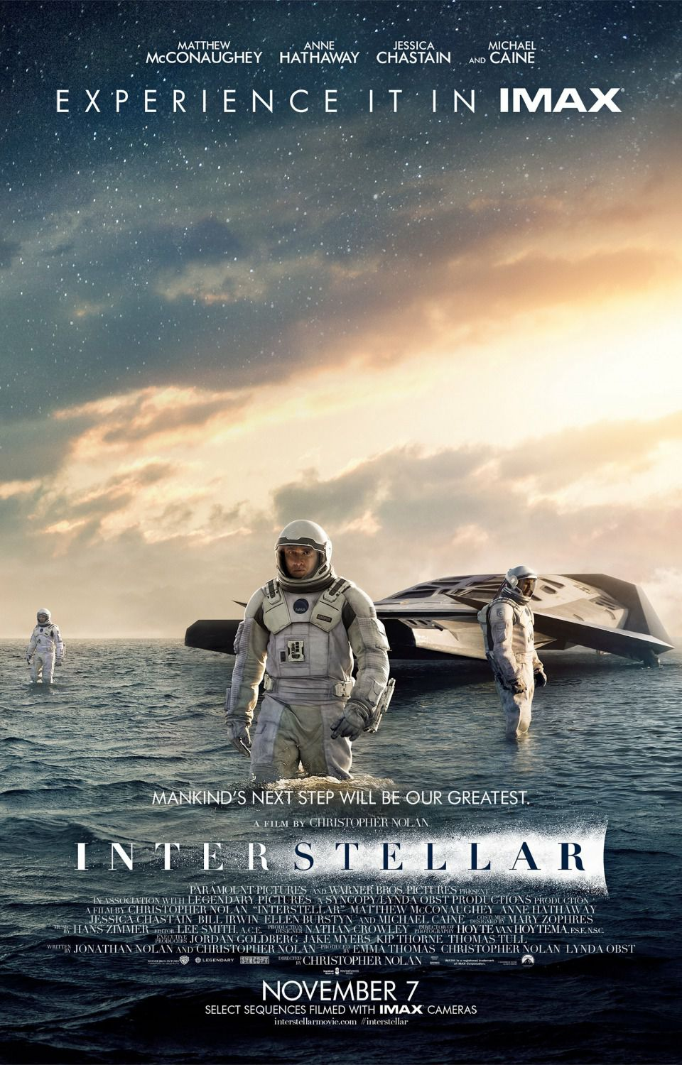 Interstellar - poster - planet landing