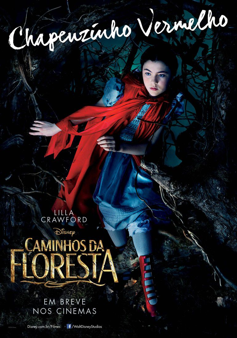 Into the Woods - poster - Caminhos da Floresta - Cappuccetto Rosso - Little Red Riding Hood - Caperucita Roja - Petit Chaperon Rouge - Chapenzinho Vermelho - Lilla Crawford