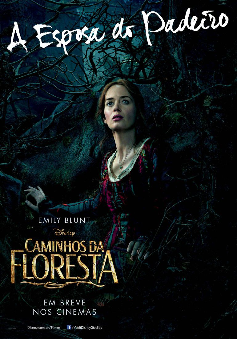 Into the Woods - poster - Caminhos da Floresta - esposa do Padeiro - Emily Blunt