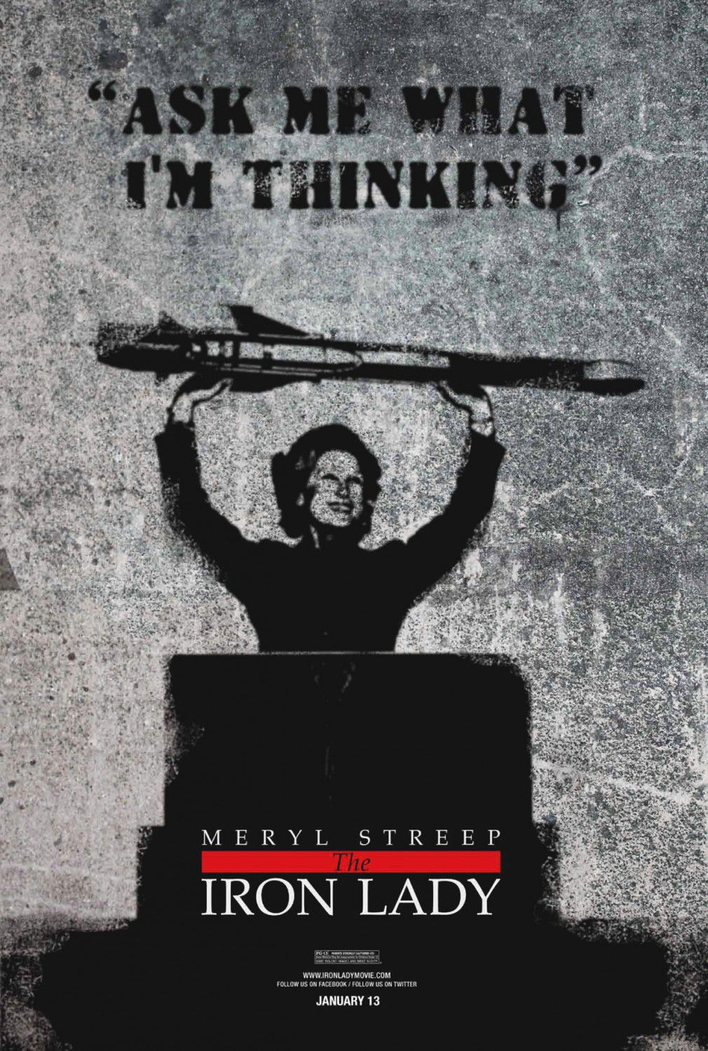 Iron Lady - poster - Meryl Streep - Ask me what I'm thinking
