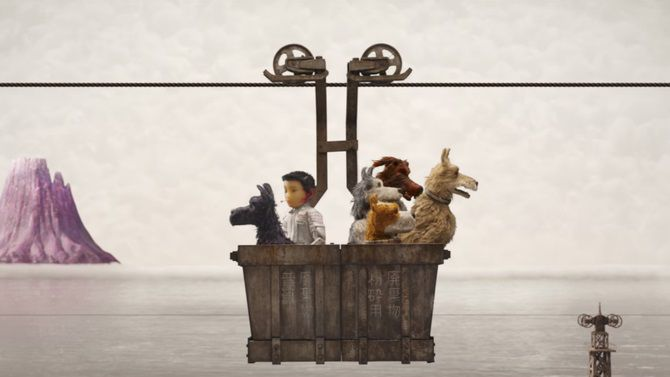 Isle of Dogs - L'Isola dei Cani (animated film) - scene - dogs and astronaut - pilot - cest
