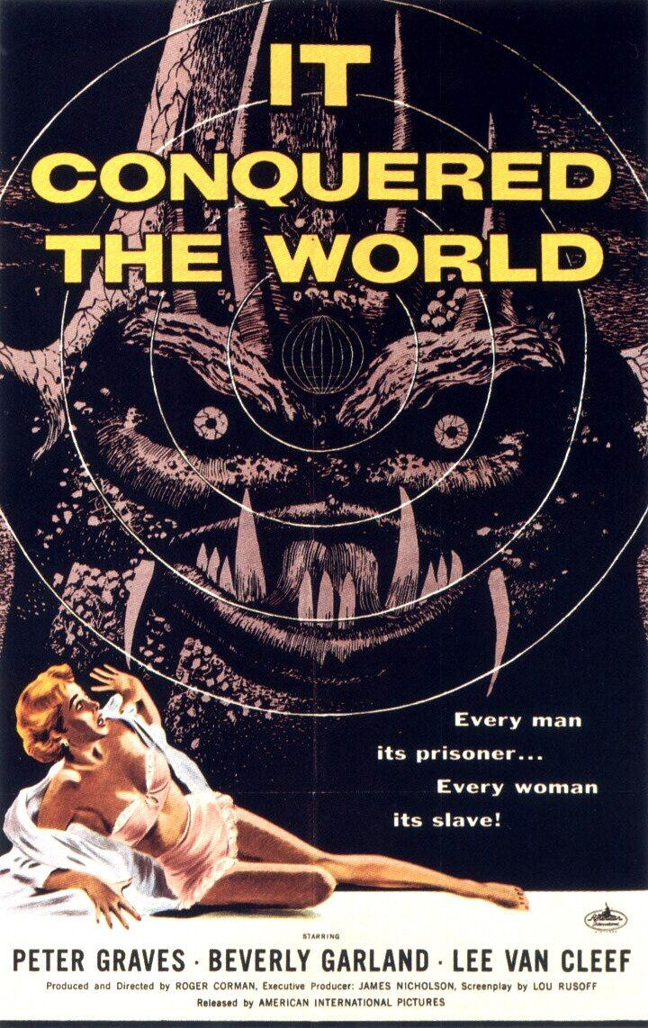 It Conquered the World  - old classic scifi poster fantascienza - Monster - Peter Graves - Beverly Garland - Lee Van Cleef