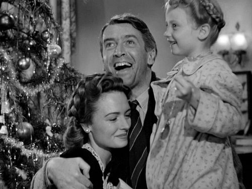 Its a Wonderful Life - La Vita e Meravigliosa - old black and white classic film - family - James Stewart and Donna Reed