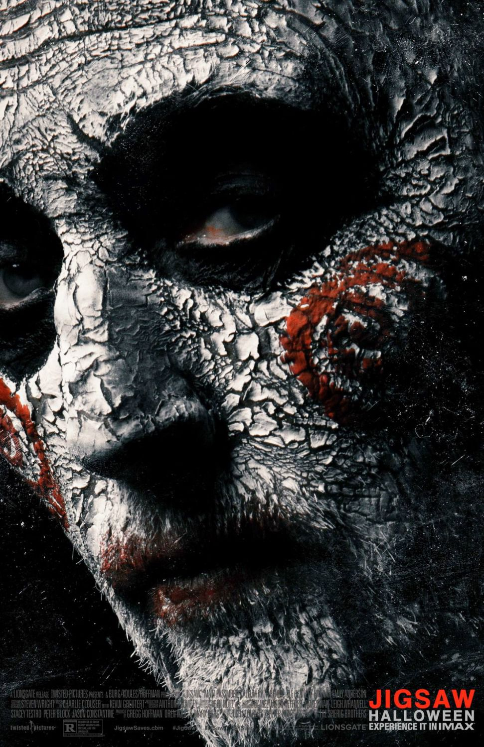 Jigsaw - horror thriller poster - face