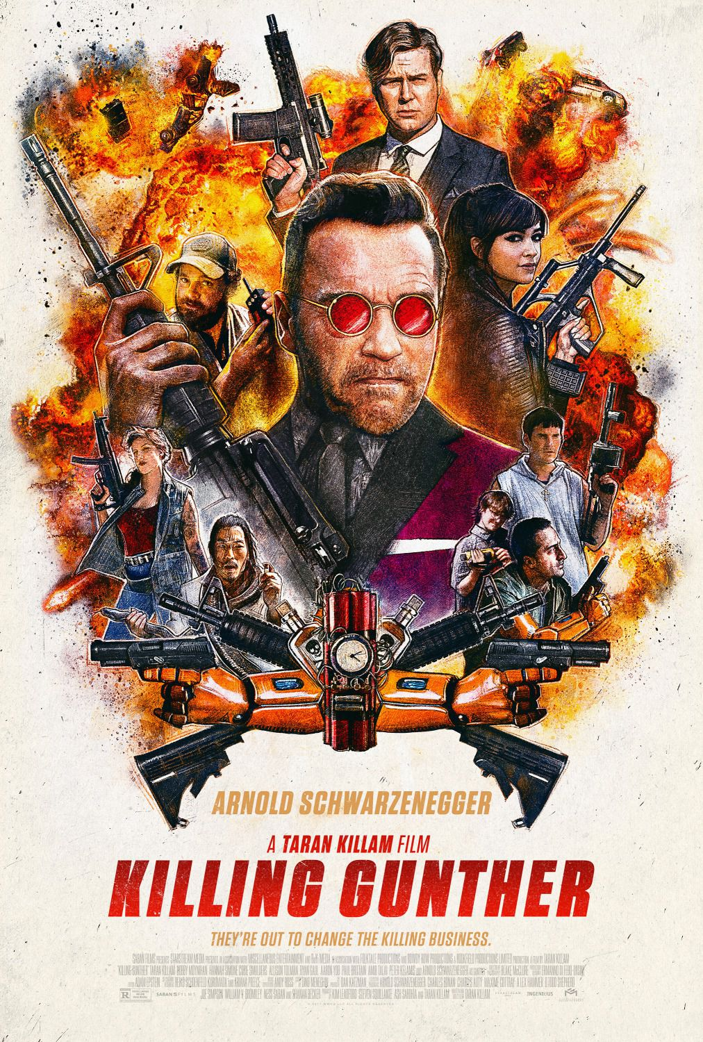 Killing Gunther - Arnold Schwarzenegger - a Taran Killam film - Kill the best poster