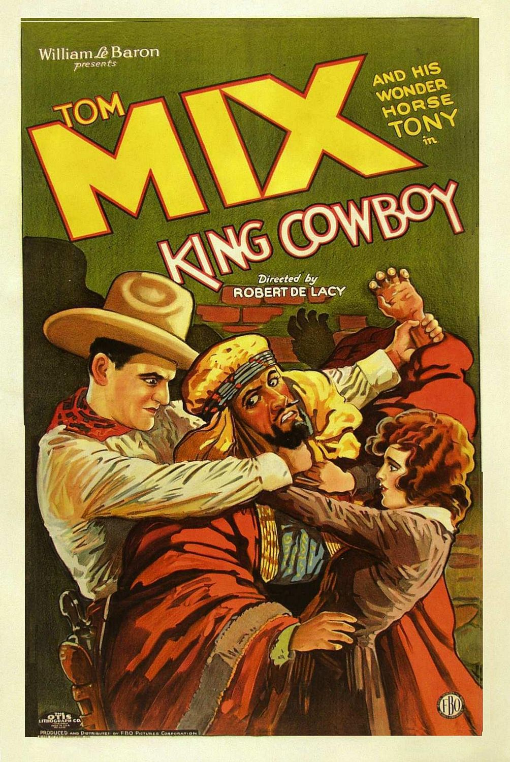 Old Film Wester - Tom Mix and this wonder Horse Tony in King Cowboy directed by Robert De Lacy