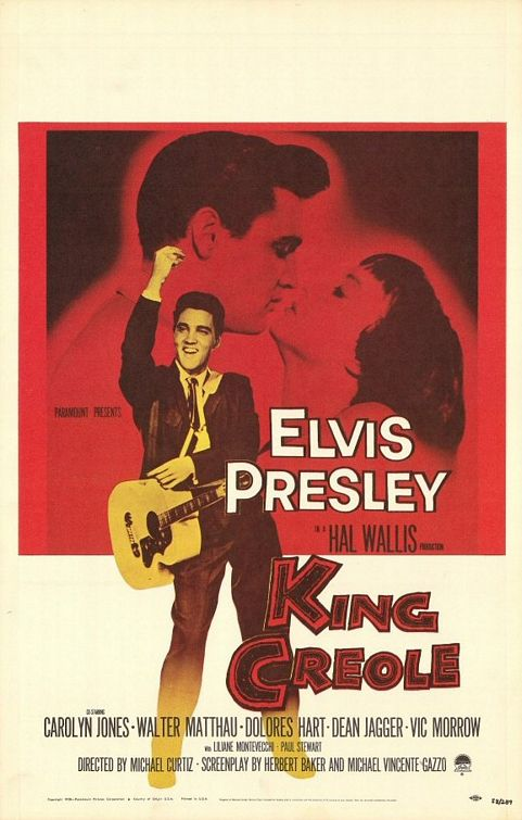 King Creole con Elvis Presley - Carolyn Jones - Walter Matthau - Dolores Hart - Dean Jagger - Vic Morrow - Hall Wallis production