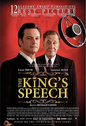 Film poster - Il Discorso del Re - Kings Speech - Colin Firth - Geoffrey Rush