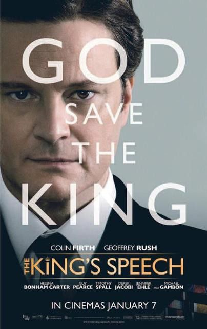 Film poster - Il Discorso del Re - Kings Speech - Colin Firth - God save the King