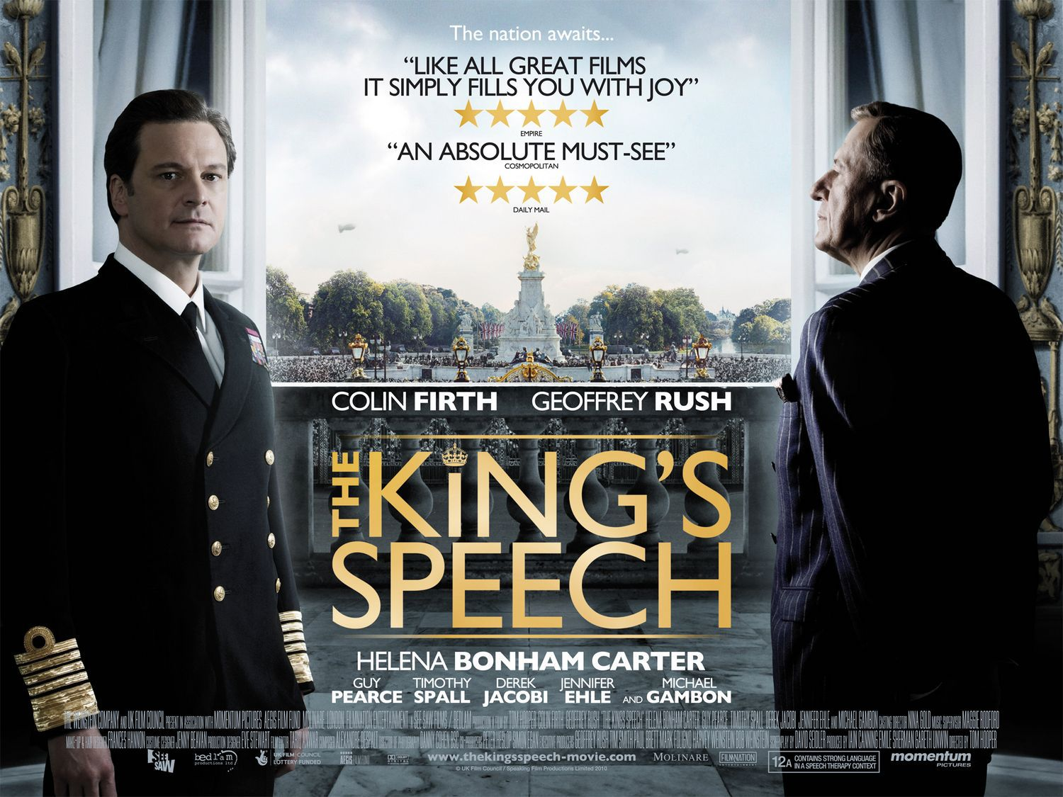 Film - Il Discorso del Re - Kings Speech - Colin Firth - Geoffrey Rush