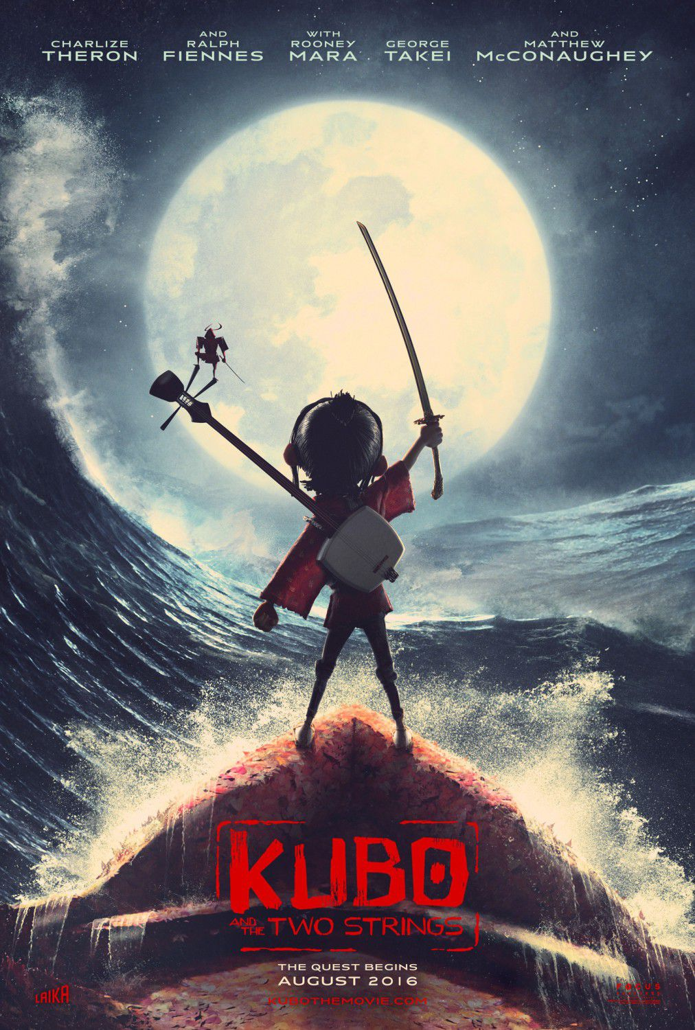 Kubo and the two Strings - animated film poster