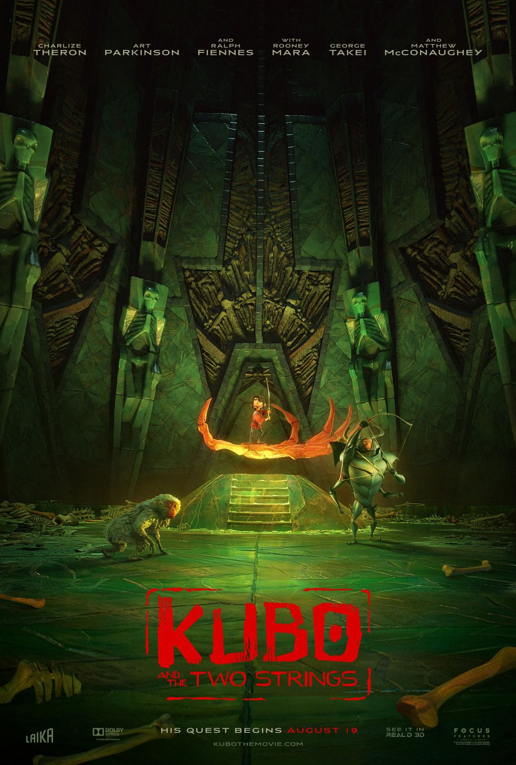 Kubo and the two Strings - poster green
