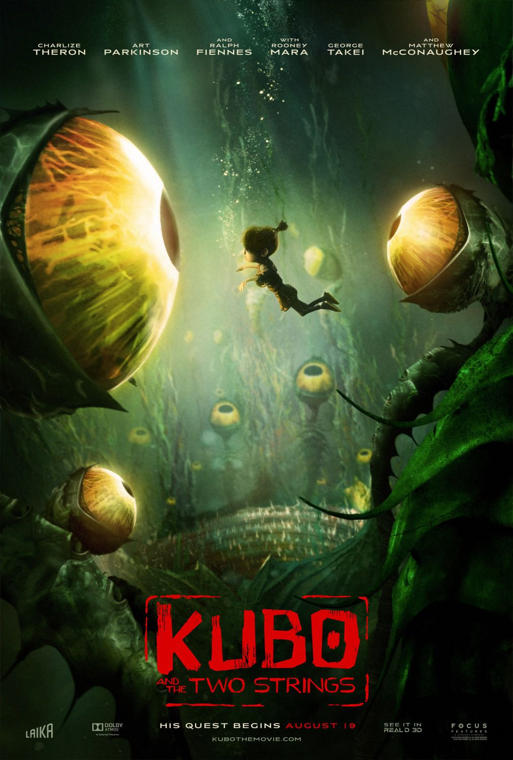 Kubo and the two Strings - eyes underwater