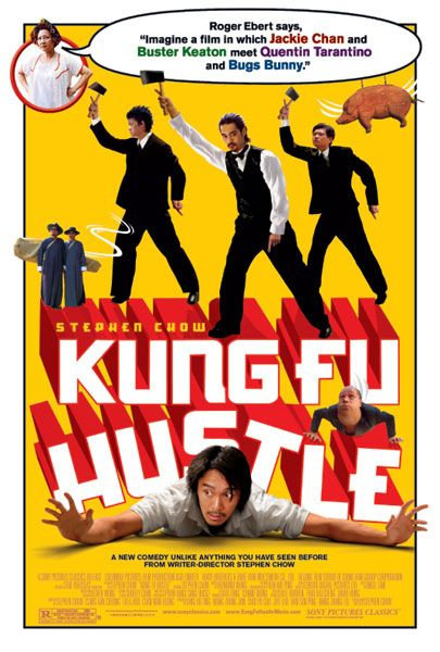 Film poster - Kung Fusion - Kung Fu hustle  - Immagine a film in wich Jackie Chan and Buster Keaton meet Quentin Tarantino and Bugs Bunny =^.^=