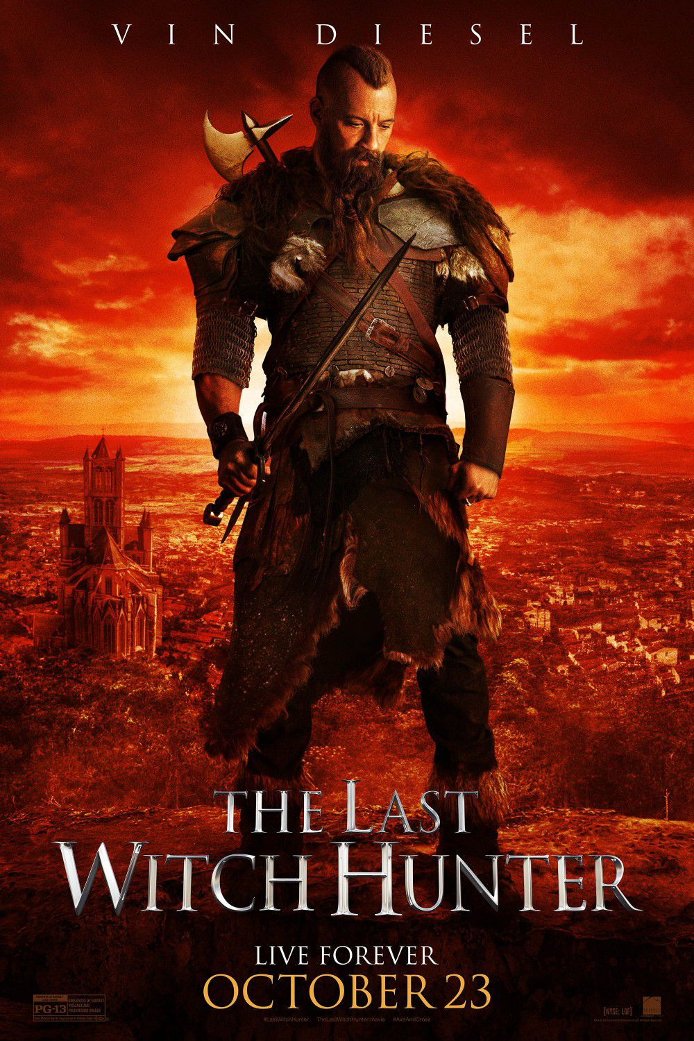 Last Witch Hunter - Ultimo Cacciatore di Streghe - red poster
