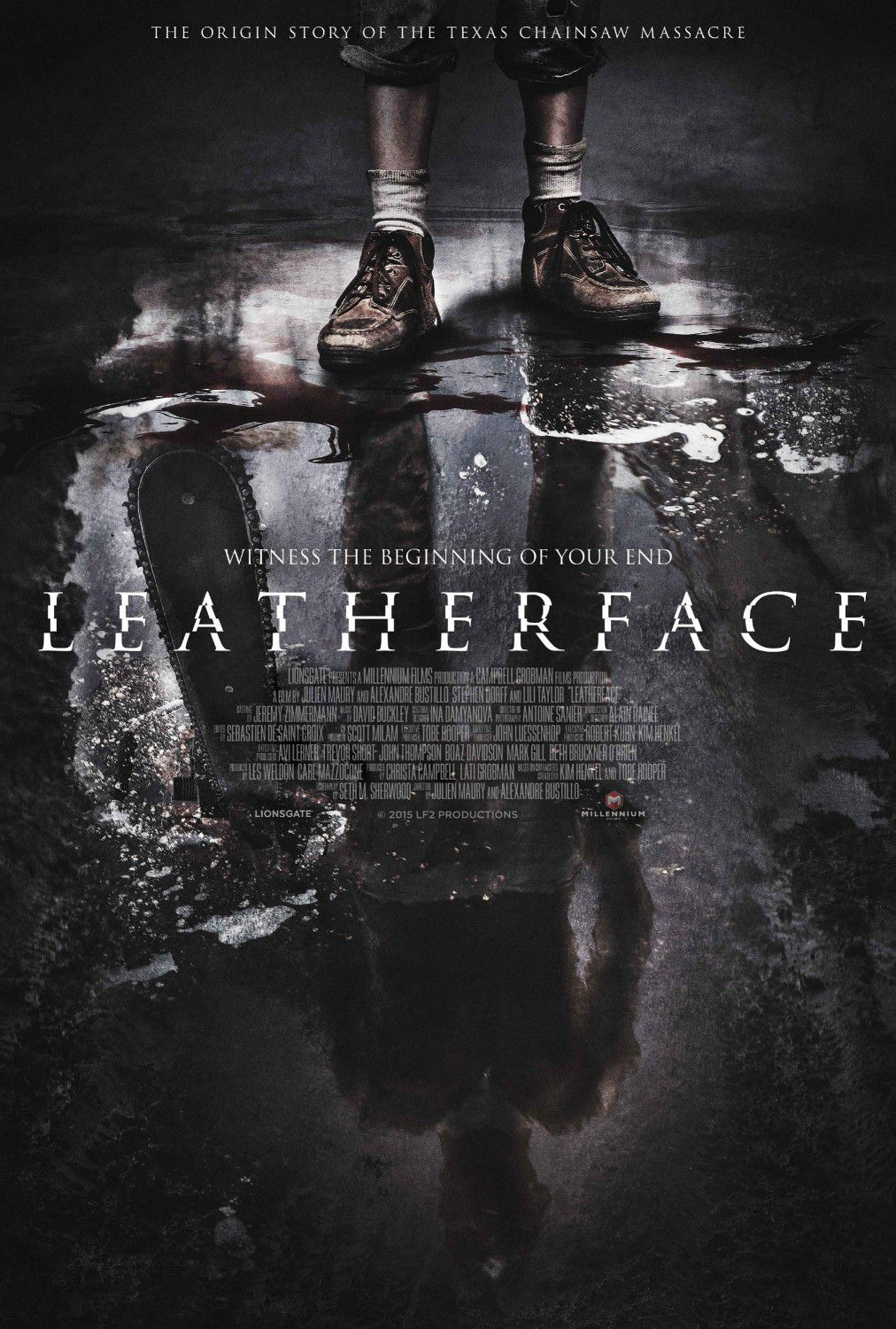 Leatherface - the origin story of the Texas Chainsaw Massacre - horror film poster
