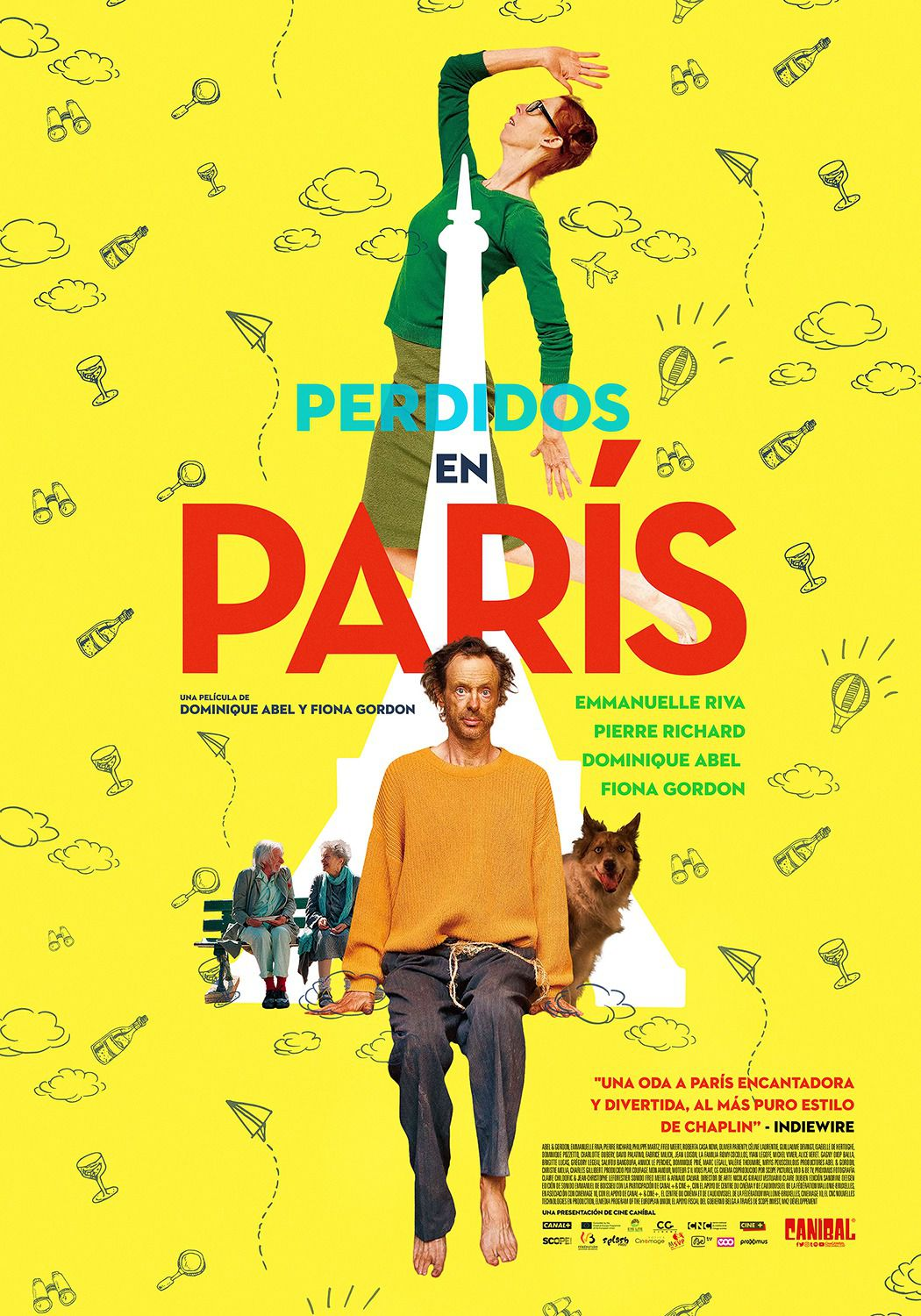 Lost in Paris - Paris pieds nus - Parigi a piedi nudi - Fiona Gordon - Dominique Abel - Emmanuelle Riva - Pierre Richard - film poster